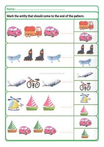Pattern worksheet for preschool and kindergarten