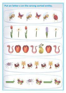 Pattern worksheet for preschooler