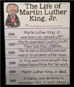 The Life of Martin Luther King Day Bulletin Board Ideas Preschool Kindergarten