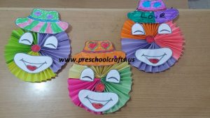 accordion clown kids craft idea
