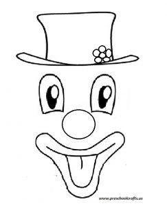 clown smile face template for kids
