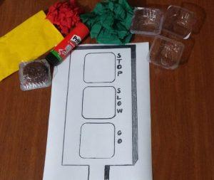printable traffic lamp craft idea for kids