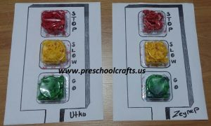 traffic lights craft activity for kids