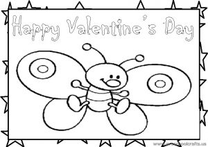 Happy Valentine's Day Coloring Page