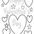Happy Valentine's Day Coloring Page - Free Printable