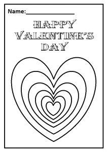 Happy Valentine's Day Theme Worksheet