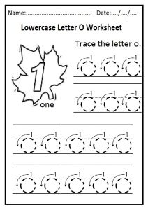 Lowercase Letter O Worksheet Free Printable