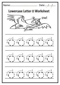 Lowercase O Worksheet Free Printable