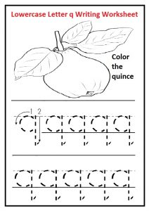 Lowercase letter q tracing worksheet free printable