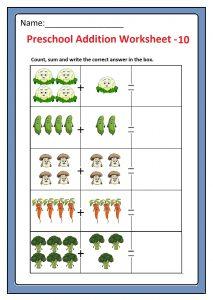 Preschool Basic Addition Worksheet 10 Free Printable