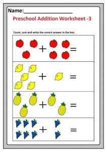 Preschool Basic Addition Worksheets - Free Printable ...