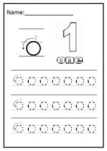 Writing practice lowercase o worksheet