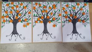 easy fun mandarin tree craft for kids
