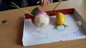 homeschooling vegetables activities by radish and lemon