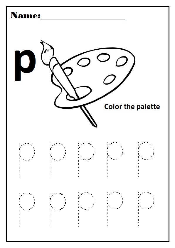 Lowercase Letter p Worksheet / Free Printable - Preschool and ...