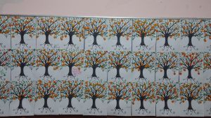 mandarin tree furuits bulletin board idea for preschool
