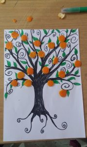 orange tree diy craft for homeschooling