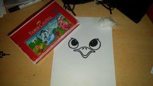 ostrich art activity materials for kids