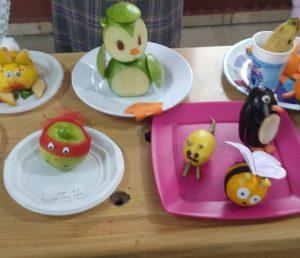 preschool furuits and vegetables diy art activities