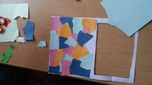 preschool paper tearing and paste activity