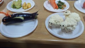 vegetables diy dolphin and sheep craft ideas from eggplant and cauliflower