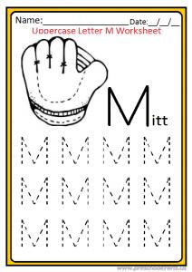 Uppercase Letter M Worksheet Kindergarten and Preschool