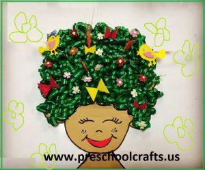 frida kahlo spring craft idea for preschool
