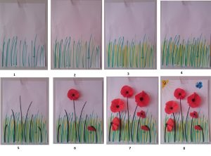 how to make poppy spring craft idea for kids