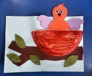spring themed bird nest preschool crafts