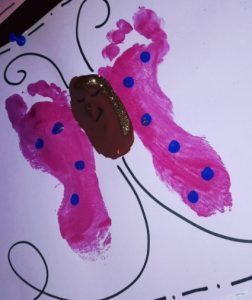 spring themed foot print butterfly craft ideas for toddlers