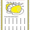 Lowercase Letter l Worksheet for Preschool and Kindergarten