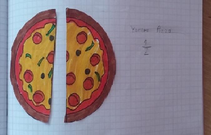 half pizza for fraction teach mathematic craft activity ideas