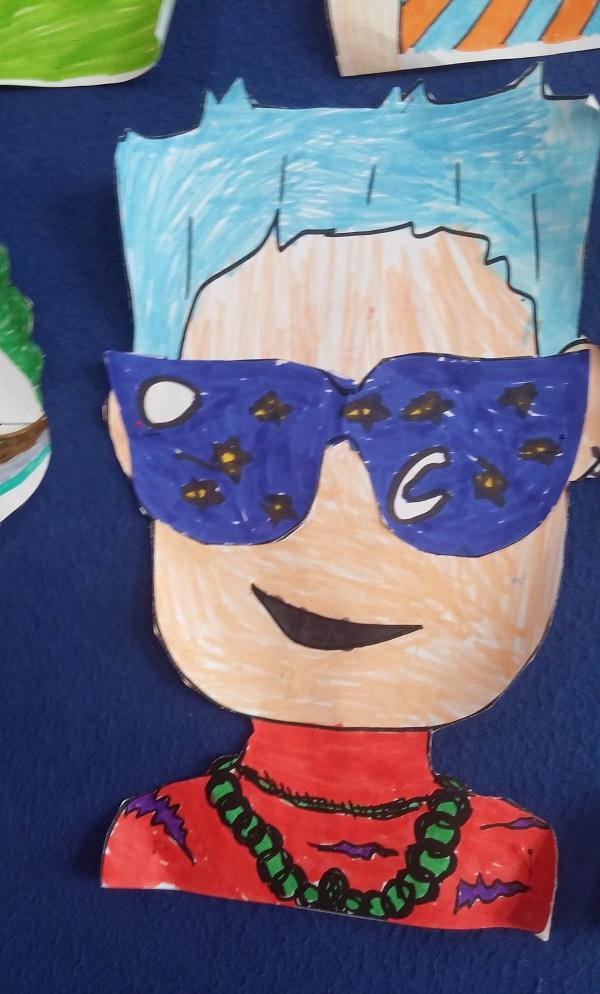 preschool sunglasses creative craft idea