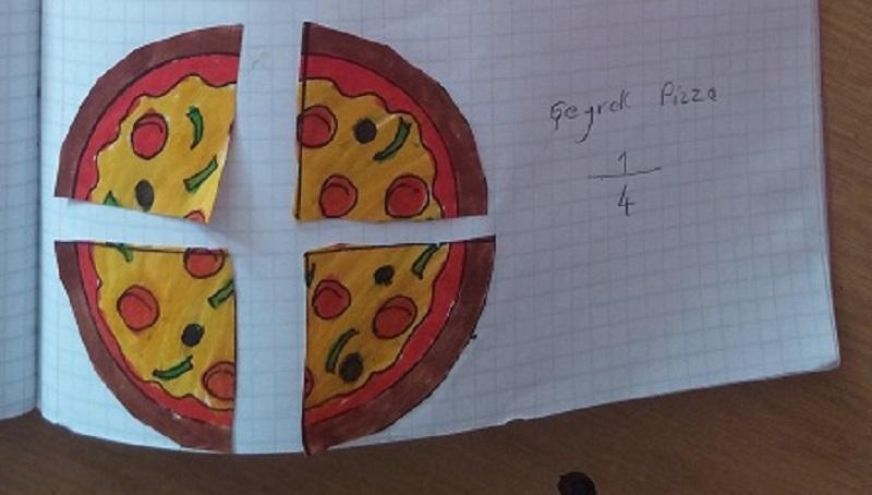 quarter pizza craft kids activity ideas for mathematic fractions teach