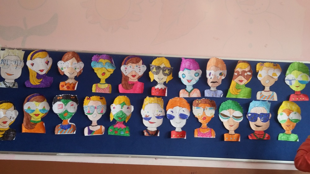 what do you see creative craft activity idea by sunglasses