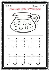 Lowercase Letter j Worksheet Preschool and Kindergarten