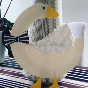 Paper Plate Duck Craft Idea