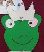 Frog King Craft for Kindergarten