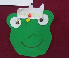 Frog craft idea for preschool