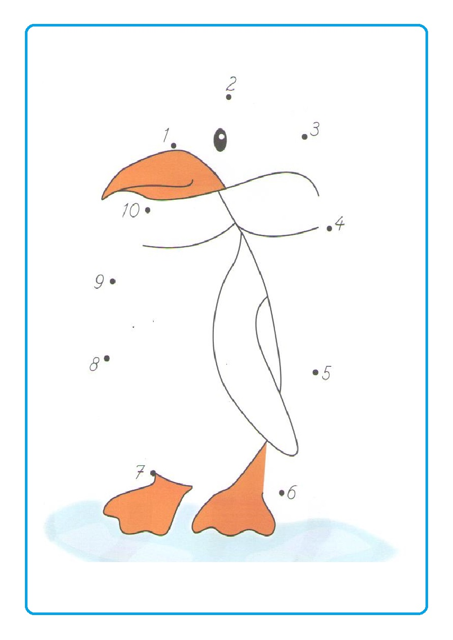 Penguin dot to dot worksheet