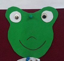 Simple frog craft idea
