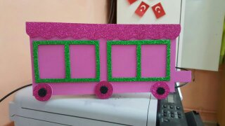 Train craft for kindergarten
