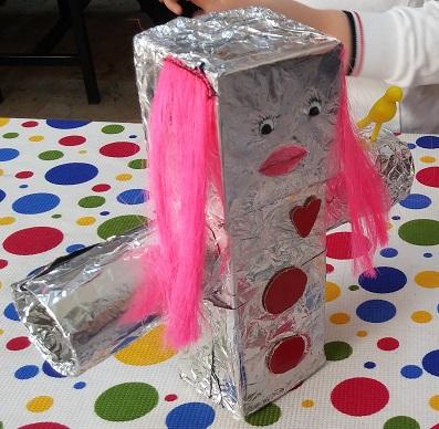 Robot craft sample for preschool
