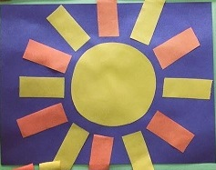 Sun craft idea kindergarten