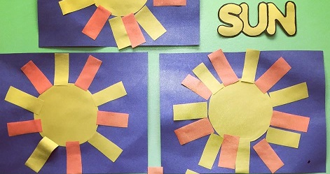 Sun craft idea preschool